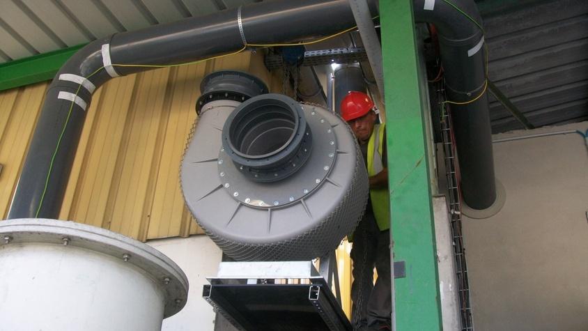 Mise en place d'une ventilation d'extraction chez Trédi